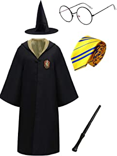 Magic Unisex Costume Robe Cape and Accessories Size 100-180 CM for Adults Kids Boys Girls and Teenagers