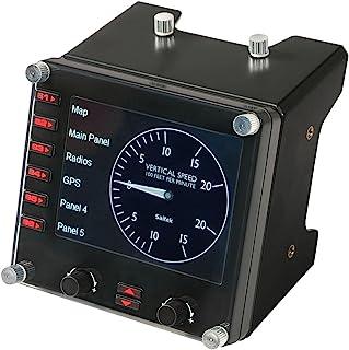 Logitech G Saitek Pro Flight - Controlador de simulación de panel LCD multi-instrumento profesional