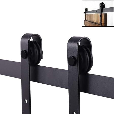 Heavy Duty Sliding Door Gear Track System Top Hung Internal Door Kit Set 90kg