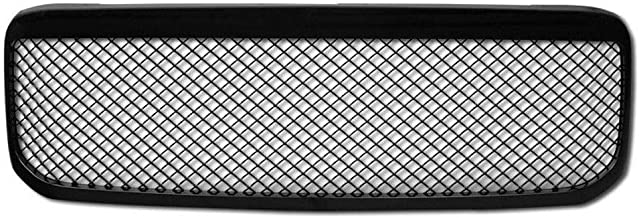 AA Products Front Grille Compatible Ford Super Duty F250 F350 F450 F550 1999 up to 2004 Luxury Sport Mesh ABS Replacement Grille with Shell Gloss Black