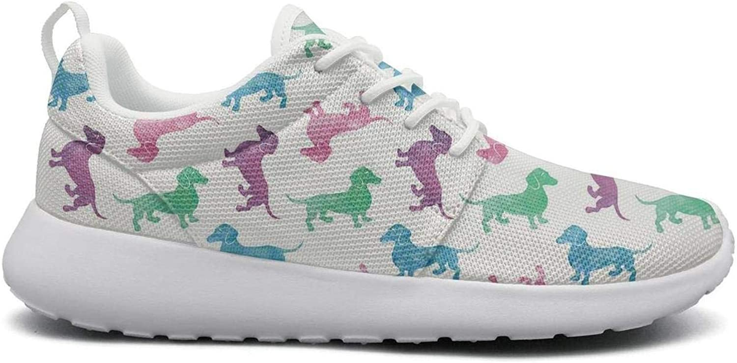 Ipdterty Wear-Resistant Traveling Sneaker Raining Dachshunds Cool Women Girls Casual Athletic Running shoes