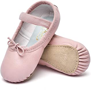Girls Premium Leather Ballet Shoes Slippers for Kids Toddler