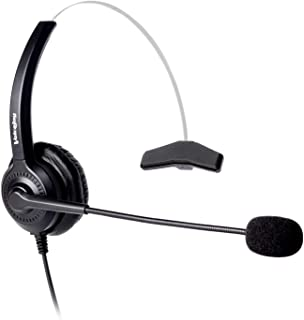 Office Headset with RJ9 Plug for Avaya 1608 9630 9640 9650 9620,GrandStream GXP-2130 2140 2160 Yealink T20P T22P T26P T28P...