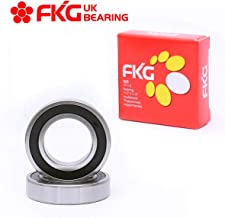 FKG 6210-2RS 50x90x20mm Deep Groove Ball Bearing Double Rubber Seal Bearings Pre-Lubricated 2 Pcs