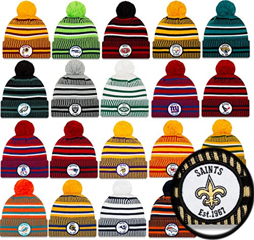 New Era Los Angeles Rams Mütze Winter Beanie Knit NFL 2019 Sideline Home 1937 Reverse OTC Gelb - One-Size