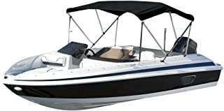 """Eevelle Sunset 3 Bow Boat Bimini Top Cover Includes 600D Canvas, 1"""" Aluminum Frame, Hardware, Straps and Storage Boot, 36""""High"""
