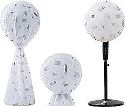 JK Home 3Pcs Housse de Ventilateur de Sol Anti-poussière Couverture Couvercle de Protection Ours