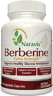 Berberine - 600mg per Capsule - Promotes Healthy Glucose Metabolism & Immune Function - Helps Cardiovascular & Gastrointes...