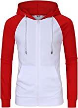Kuulee Men's Casual Fit Long Sleeve Lightweight Zip Up Pullover Hoodie Sweatshirt with Kanga Pocket