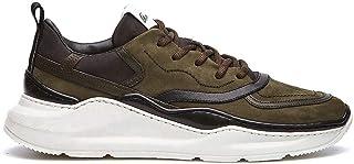 Barracuda Sneakers Uomo Neil Verdi e Nere in Nabuck - BU3242 B00FRY83I67I - Taglia