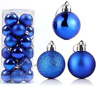 ZHW Christmas Baubles 24pcs/Box Ball Ornaments Shatterproof Xmas Trees Hanging Decorative Balls Home Party Decorations Chr...