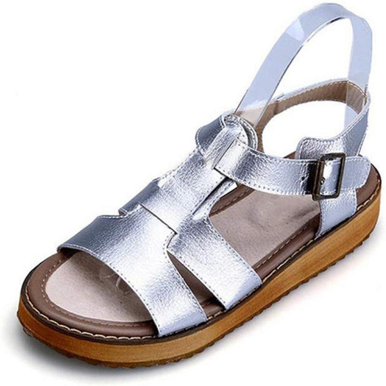 Women's Summer Flat Heel Gladiator Platform Sandals Casual Buckle Ladies Breathable Fashion shoes