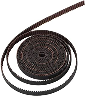 BCZAMD 3D Printer Timing Belt 2M GT2 Timing Belt Open Fiberglass Reinforced Rubber 2GT-6RF Timing Belt Width 6MM Fit for RepRap Prusa I3 MK3 MK3S Ender-3 CR10 ANET Mendel Rostock 3D Printer CNC