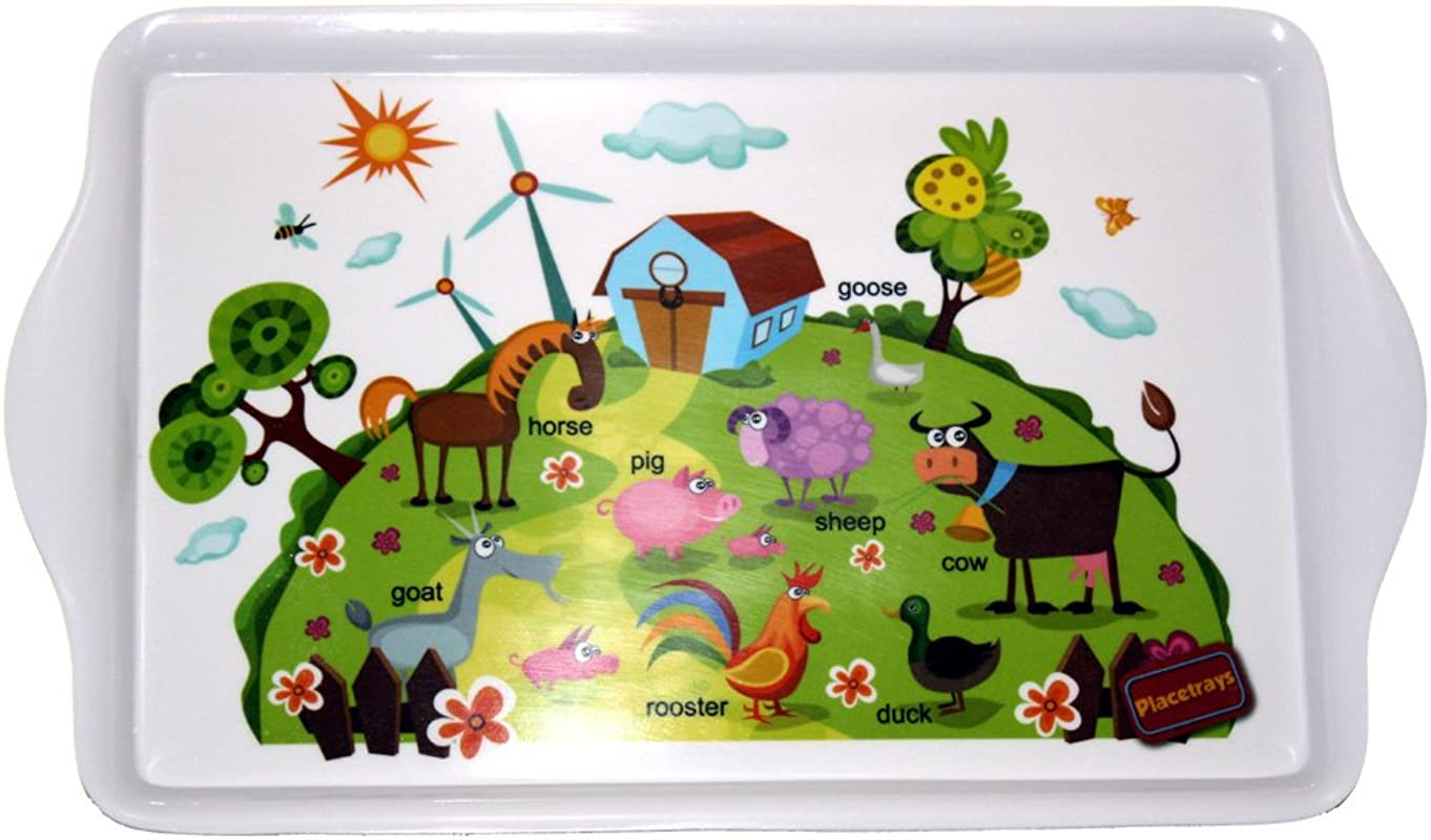 Placetrays Farm Animals Toddler Tray Place Mat
