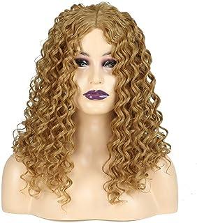 Yrattary ブロンドの長い巻き毛のかつらアフリカの小さな波ヒートセーフティ人工毛女性の毎日のドレスパーティーのかつら (Color : Blonde)