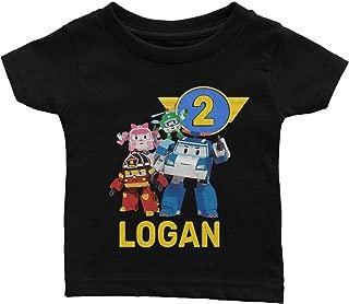 Personalize Robocar Poli Birthday Shirt