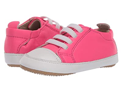 Old Soles Eazy Jogger (Infant/Toddler) (Neon Pink/Snow) Girl