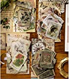 240 Pcs Pegatinas Tema de sello Personajes plantas flores y pjaros edificio para DIY Manualidades Decoracin Scrapbooking lbumes de Recortes Calendarios Tarjetas