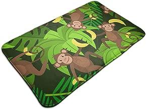 Monkeys and Bananas Seamless Memory Foam Bath Mat Flannel Non Slip Bathroom Rugs Velvet Bath Rug for Shower Floors,Bathroom Decorations,Kitchen 31