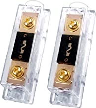 100A Inline ANL Fuse Holder, 0/2 / 4 Gauge AWG ANL Fuse Block with 100 Amp ANL Fuses for Car Audio Amplifier (2 Pack)