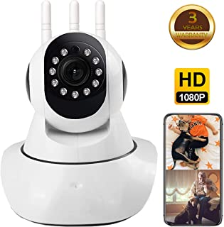 Security WiFi Camera, 1080p WiFi Camera, Indoor Home Camera Support iOS/Android App, WiFi Pet Camera with Night Vision Two Way Audio, Home Surveillance for Baby/Pet/Elde, IP Cameras, Activity Alert