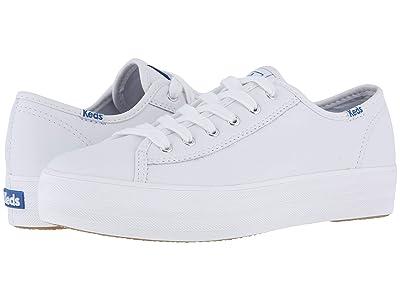 Keds Triple Kick Leather (White) Women