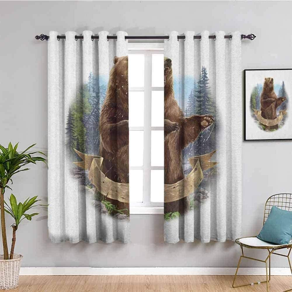 PKUOUFG blackout curtains Max 82% OFF Living bathroom 110x71 Room It is very popular two-piece