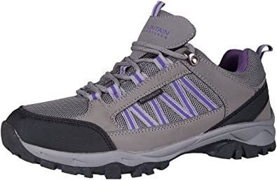 Mountain Warehouse Path Waterproof Womens Walking Shoes - Breathable Ladies Shoe, Mesh Lining, High Traction Sole Hiking Shoes - for Trekking, Camping