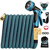 KETTOYA 2020 Upgrade 100FT Expandable Garden Hose Water Hose with 10-Function High-Pressure Spray