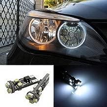 iJDMTOY Xenon White LED Angel Eyes Ring Marker Bulbs for BMW E60 525i 530i 545i 5 Series Pre-LCI Halogen Headlight Version