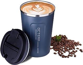 OCTERR マグカップ 保温 コーヒーカップ コンビニカップ 携帯マグ 保冷 タンブラー 真空断熱 ステンレス製 蓋付き 持ち運び 直接ドリップ プレゼントに ネイビー