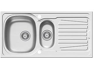 Pyramis Sparta 100x50 1 1/2B 1D Edelstahl-Spüle Leinen Einbau Küchenspüle 60US