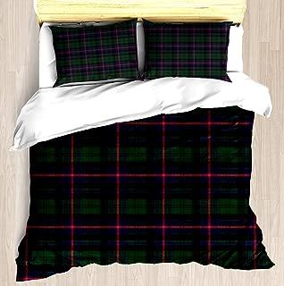 NTCBED Armstrong Tartan - Duvet Cover Set Soft Comforter Cover Pillowcase Bed Set Unique Printed Floral Pattern Design Duvet Covers Blanket Cover King/Cal King Size