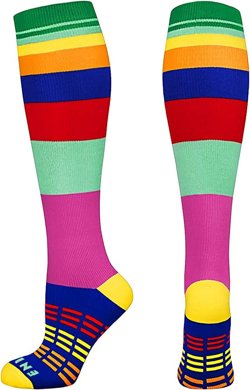 Nurse Rainbow 2021 autumn and winter new Compression Oklahoma City Mall Socks Women Circulation 20-30mmHg Bes