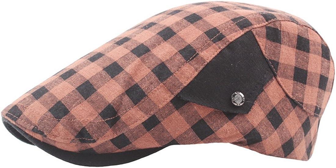 Globalwells Men's Classic Tartan Check Vintage Ivy Gat Atlanta Mall Hats Limited price sale Flat