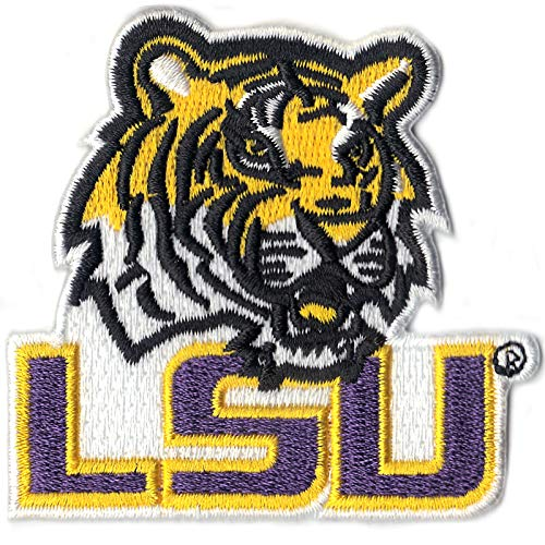 Official Louisiana State 'LSU' with Tiger NCCA College Logo Iron On Patch