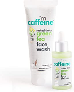 mCaffeine Day Hydration Routine | Dirt Removal, Hydration | Face Wash, Face Serum | All Skin | Paraben & SLS Free