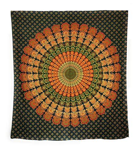 Aga's Own Indische Mandala Tagesdecke, Wandtuch, Tagesdecke Mandala Druck - 100% Baumwolle, 210x240 cm, Bettüberwurf, Sofa Überwurf (Muster 03)