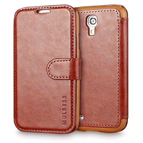 Mulbess Cover per Samsung Galaxy S4 Mini, Custodia Pelle con Magnetica per Samsung Galaxy S4 Mini [Layered Case], Marrone