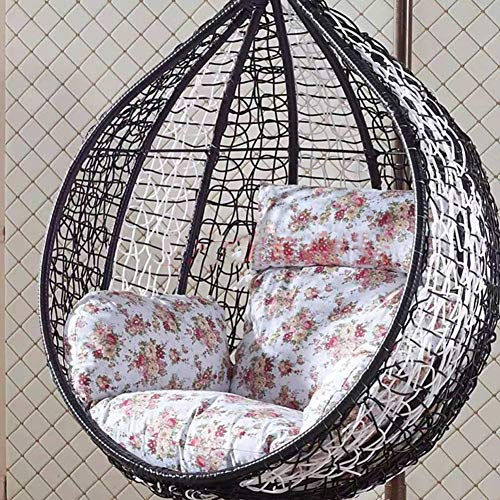 XFXDBT Cuscino Sedia Patio Ispessito Cuscinetti per Sedili per Uova Overstuffed Cuscinetti per Sedie A Uovo Hanging Basket Poltrona Sedia Amaca per Esterno Indoor-U