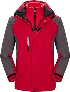 Women's Ski Jacket Windproof Mountain Fleece 3-in-1 Snow Jacket Winter Coat