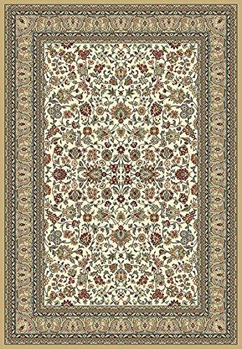 Traditioneller Teppich Balta Kabir 8746684170230 Maße 170 x 230 cm mit orientalischem Rosenmuster verziert in traditionellen Farben Rot Blau und Ecru Teppich Blumen aus Polypropylen