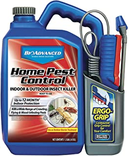 BioAdvanced 502798A Home Pest Control Indoor & Outdoor Insect Killer Ready-to-Use Kills Crawling, Flying & Wood infesting Bugs, 1.3-Gallon, Regular Formula