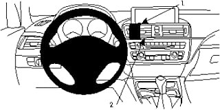 Brodit 854740 ProClip houder, zwart