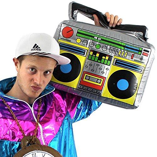 German Trendseller® - Aufblasbares Radio XXL ┃ Ghettoblaster ┃ 46 cm x 30 cm ┃ Party Dekoration ┃ Rapper und Gangster ┃ Boom Box ┃ 80´s - 90´s ┃ Karneval / Fasching