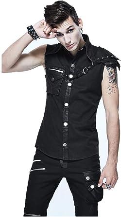 Devil Fashion Chaleco sin mangas para hombre, estilo gótico ...