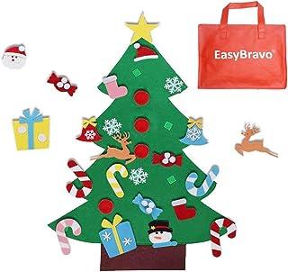 comprar comparacion EasyBravo El árbol de Navidad del Fieltro de los 3.6FT DIY fijó + los Ornamentos Desmontables 26pcs, Regalos Colgantes de ...