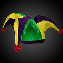 LED Light Up Mardi Gras Velvet Jester Party Hat