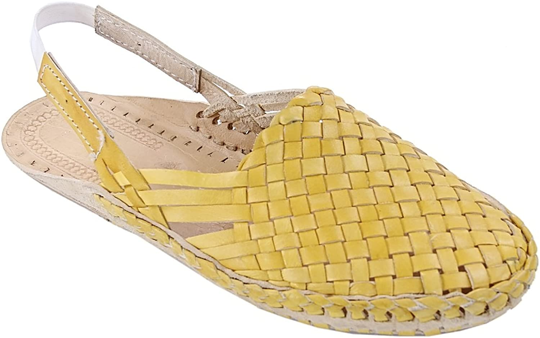KOLHAPURI CHAPPAL Original Striking Designer's Yellow mat Design Back Strip Ladies Kolhapuri Half shoes Slipper Sandal