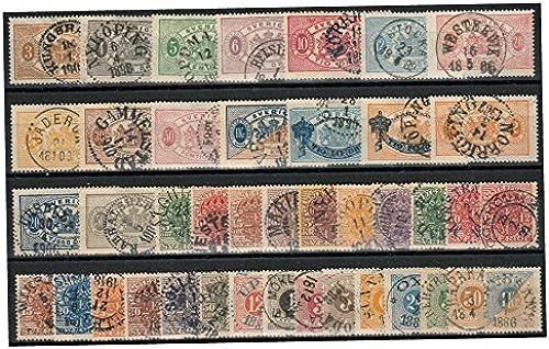Goldhahn Schweden Altwerte gestempelt nur Porto- und Dienstmarken Briefmarken für Sammler